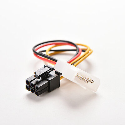 AU_4-Pin Best.Molex Male to 6-PinPCI- Express PCIE Female Power Adapter Cable C