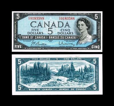 1954 $5 Dollar Banknote Bank Of Canada****~~  Uncirculated