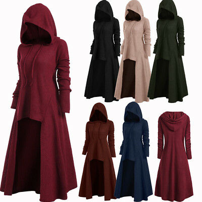 Plus Size Women's High Low Ribbed Hooded Sweater Coat Hoodies Knitwear New
