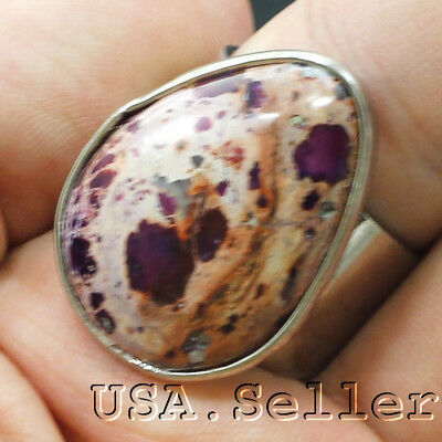 43.5CT100% Russia Natural Jasper Tear Ring with Adjustable Hole D606