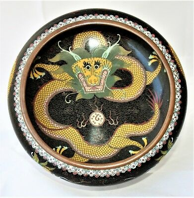 Chinese Cloisonne Low Bowl