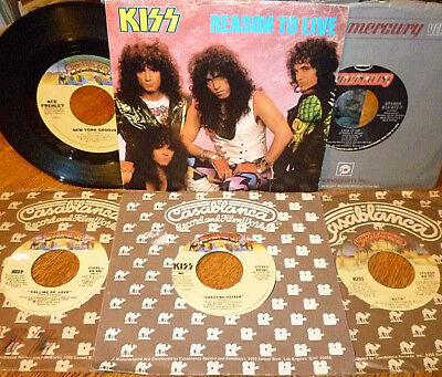 < WOW! LOT of 7 BARGAIN-PRICED KISS 45s: BETH/CHRISTINE 16/CALLING DR. LOVE+4