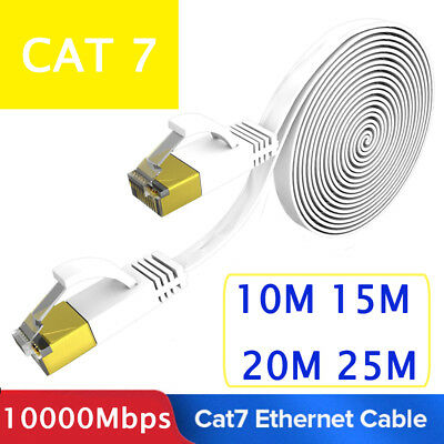 CAT7 Ethernet Network LAN RJ45 Cable Flat Cord Patch For PC Laptop Router Z1A3