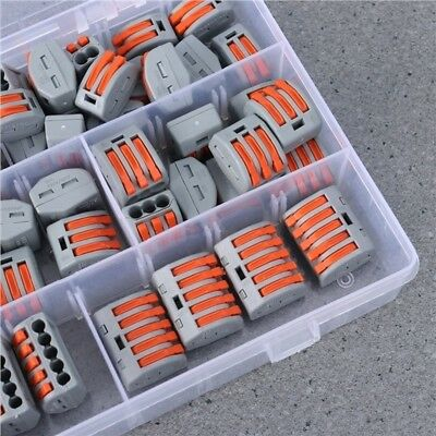 60PCS PCT UNIVERSAL Compact Wire Wiring Quick Connectors ... on