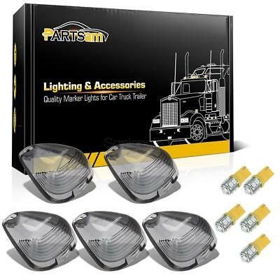 5xSmoke Clearance Light Cab Marker Lens+T10 W5W 194 Amber SMD LED Bulbs for Ford
