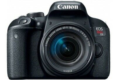 NEW Canon EOS Rebel T7i DSLR Camera with 18-55mm Lens - Black(1894C002)