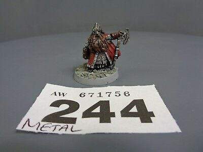 Warhammer Middle Earth  Lord of the Rings Metal Dwarf King Dain 244