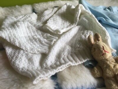 AUTHENTIC VINTAGE 70s UNUSED BABY BOYS/GIRLS JUMPER/MATINEE COAT/CARDIGAN
