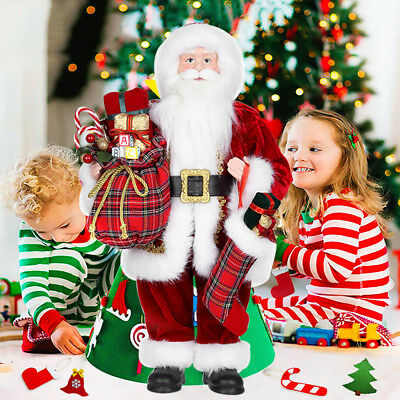48CM Traditional Christmas Father Standing Santa Claus Indoor Xmas Decoration UK