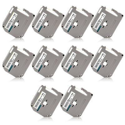 "10PK MK-231 0.47"" P-Touch Label Tape Compatible for Brother PT-70 PT-85 PT-90"