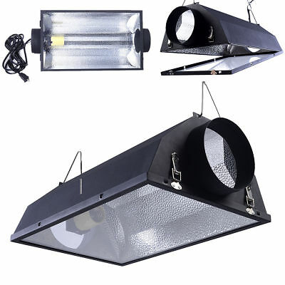 "6"" Air Cooled Hood Reflector Hydroponics Light Grow Hydroponic Glass Cover"