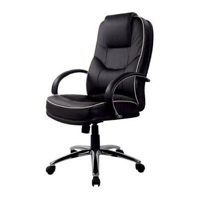 RS Soho Rome Leather Faced Executive Office Computer Chair Black Rome P-573#