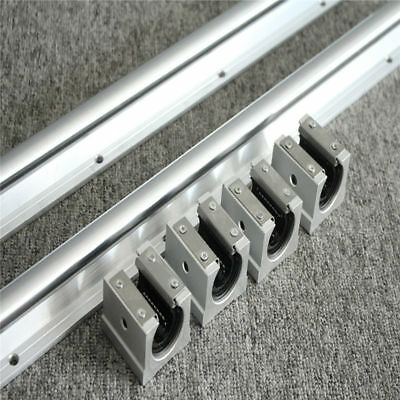 2Pcs SBR10-1000mm Linear Rail Slide Guide + 4Pcs SBR10UU Bearing Block For CNC