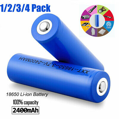 4pcs 2400mAh Capacity Rechargeable Li-ion 18650 Battery 3.7V Torch Batteries UK
