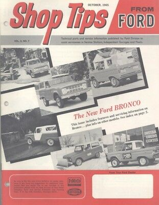 Oct 1965 Ford Shop Tips Bronco Introduction Issue wz9184