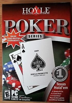 HOYLE POKER SERIES PC CD-ROM 15 CARD GAMES TEXAS HOLD 'EM brand new & sealed!