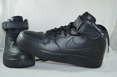sports shoes 4a60d 3c820 Nike Air Force 1 AF-1 MID 07 Gr  44 Schwarz High Tops Basketball