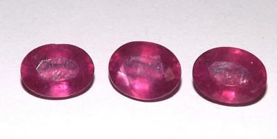 7.40 cts Natural Earth Mined Pink Red Ruby Cut Gemstone Lot #hru23