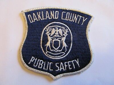 Michigan Oakland Co Public Safety Patch