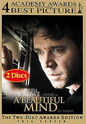 A Beautiful Mind (Full Screen Awards Edition), Good DVD, Paul Bettany, Patrick B