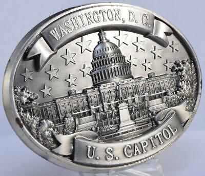 """Large 3.5"""" Pewter Paperweight US Capitol Building Senate House Representatives"""