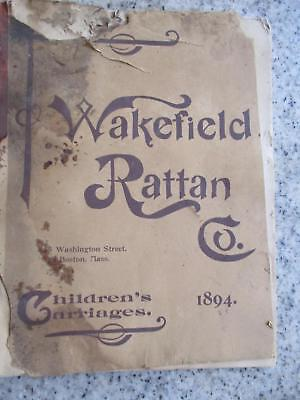 Original Rare 1894 Wakefield Rattan Co Illustrated Childrens Carriages Catalogue