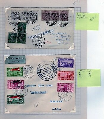 Syria & French Offices With Syria Covers  (RS8802)