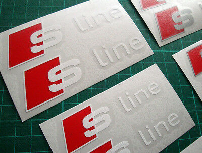 AUDI S-Line Premium Brake Caliper Decals Stickers SQ5 SQ7 Q2 S1 TTS S6 S4 Avant