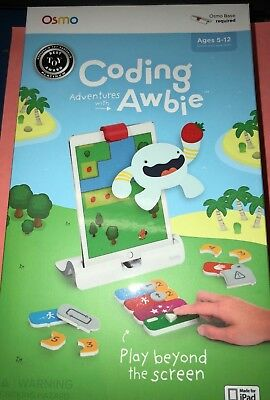 Osmo Coding Adventures with Awbie (Base required Not Included) NEW FREE SHIP