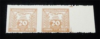 nystamps Paraguay Stamp Used Imperf Vertically Error