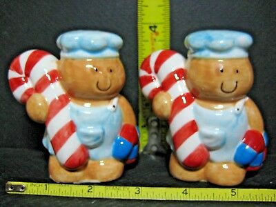 Sweet & Happy Candy Cane Bakers Salt & Pepper Shakers