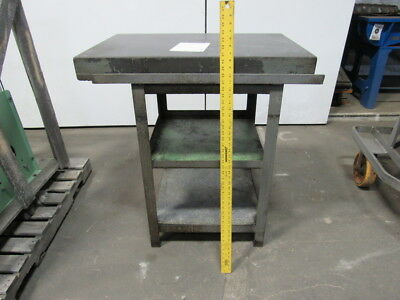 "24""x36""x3-1/2"" Black Granite Surface Plate W/40-1/2"" High Stand"