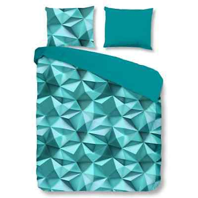 Good Morning Housse de couette 5568-A Geo 200x200/220 cm Turquoise