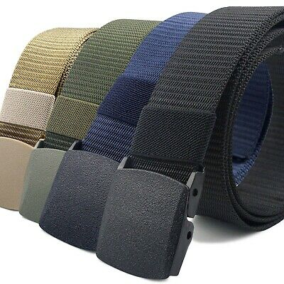 CoreLife Nylon Tactical Belts with Heavy Duty Plastic Buckle - Military Style