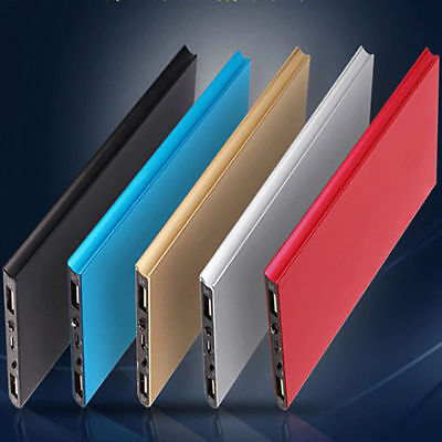 Ultra-thin 50000mAh Slim Power Bank 2 USB LED Portable External Battery Charger