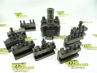 Rapid Isa Precision Tool Post Model Tipo-B + 8 Assorted Tool Holders!