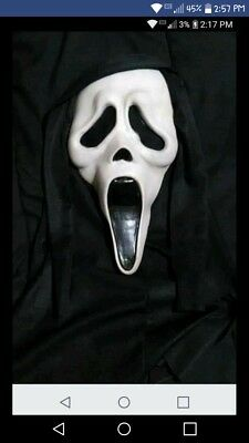 Fearsome Faces Fun World Vintage Scream Ghostface Mask