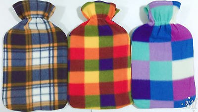 Large 2 Liter Hot Water Bottle High Quality Bottles With Beautiful Fleece Covers