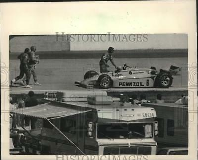 1984 Press Photo Rick Mears 2nd Place at Rex Mays 200 Race at Sate Fair Park