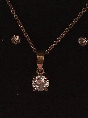 Beautiful 9ct Gold plated Cubic Zirconia Set