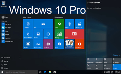 Microsoft Windows 10 Pro Professional 32-Bit&64-Bit Oem Full Version
