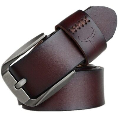 New Mens PU Leather Belts Buckle Belt For Jeans Big Tall King Sizes