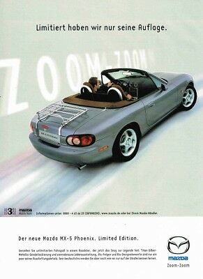 2002 Mazda MX-5 Phoenix Limited Edition (German, 1pg.) Advertisement (AAE.169)