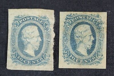 CKStamps: US Confederate States Stamps Collection Scott#11 Mint H OG Crease Thin