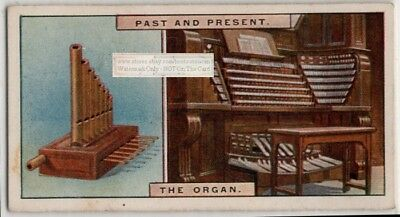 Early Pipe Organ and Modern Organ with 18000 Pipes 85+ Y/O Trade Ad Card