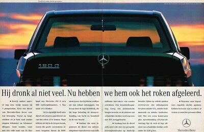 1992 Mercedes-Benz W201 190D (Dutch, 2pg.) Advertisement (AAE.210)