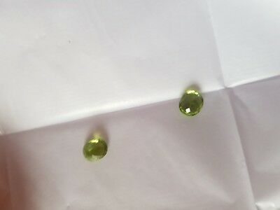 Peridot Green X2 Naturel 100 % 4,45 Ct Vvs