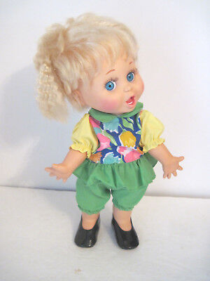 "GALOOB 1990 BABY FACE #2 -""SO SURPRISED SUZIE"" - Blonde, Blue Eyes,Very Poseable"