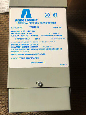 T181057 ACME ELECTRIC DRY TYPE DISTRIBUTION TRANSFORMER 50/60 Hz