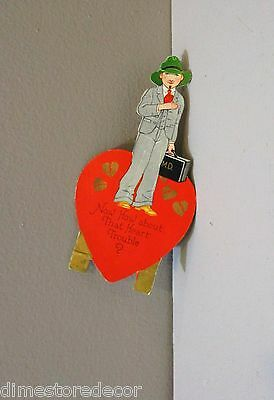 Vtg Valentine Card Carrington M.D. Doctor Cardiologist About That Heart  Trouble